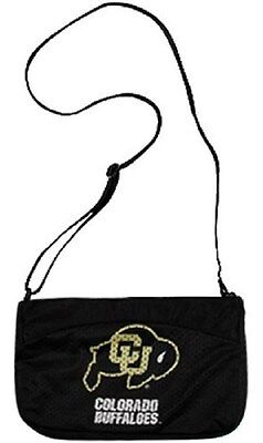 Ncaa Mesh Bag (Colorado Buffaloes Jersey Purse, BLACK Mesh, Shoulder Bag, NCAA, FREE Shipping )