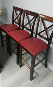 9 dining chairs and table all for $50