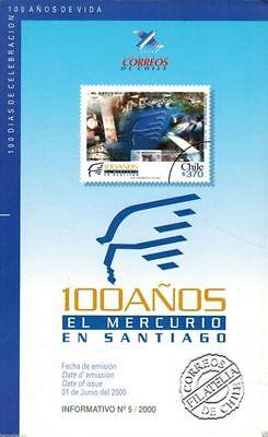 Chile 2000 Brochure 100 A Os El Mercurio En Santiago