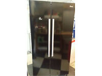 Black swan American style fridge freezer