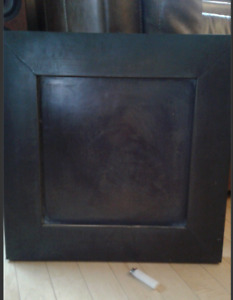 Big heavy metal frame for picture or mirror.