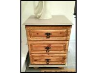 Stunning Shabby Chic Solid Pine Bedside Table. - free Delivery