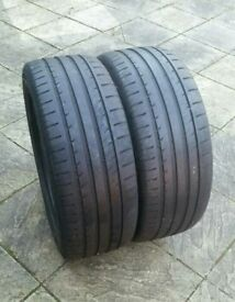 Pair of 255 50 19 tyres