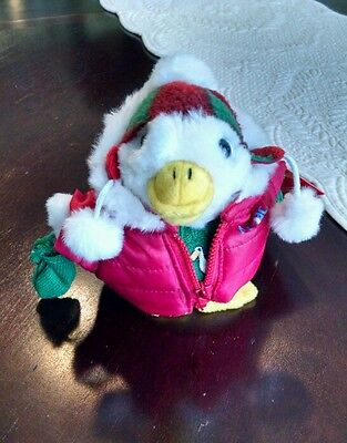 Aflac Holiday Christmas Duck 2008 Winter Coat   Sweater Macys Collectible