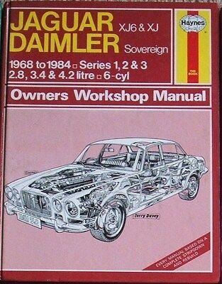 Jaguar xJ6 and XJ, Daimler Sovereign Haynes Manual