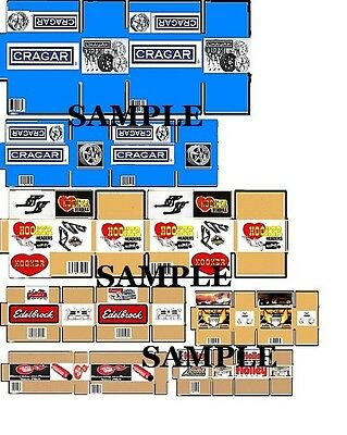 10 Box Set #1 - UNASSEMBLED - for your shop/garage/diorama - 1/18 scale