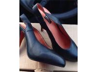 Next Runway Genuine Leather High Heels Black Size 5 Euro 38 RRP £50