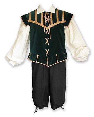 Men's Renaissance Outfit Costume Game of Thrones GOT Ren Faire Cosplay Green - Renaissance Outfits For Men
