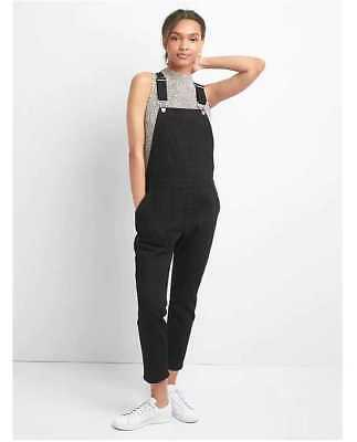 NEW WOMEN'S XS S M L XL XXL GAP SLOUCHY BLACK CROP DENIM JEAN OVERALLS