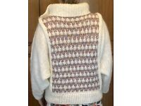 Synthetic mohair bat-wing jumper with detailed panel front and rear