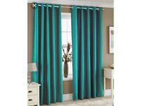 Teal lined curtains 90 x 90