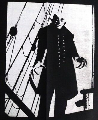 Nosferatu 9x12 Back Patch Screen Print Handmade Classic Horror Halloween - Halloween Back