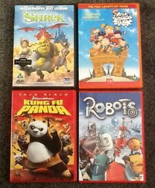 KUNG FU PANDA - SHREK - ROBOTS - RUGRATS IN PARIS DVD - ALL 4 PERFECT CONDITION