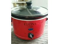 RED Slow Cooker New Never Been Used