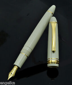 Sailor-1911-Pearl-White-with-Golden-Trim-14kt-nib-Stylish-Business-Fountain-Pen