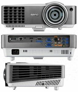 BenQ MW817ST Projector with Pull down Projector Screen