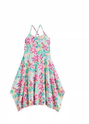 Girls Summer Dresses Size 10 (Jumping Beans Girls Handkerchief Hem Floral Summer Dress Size 10 NWT)