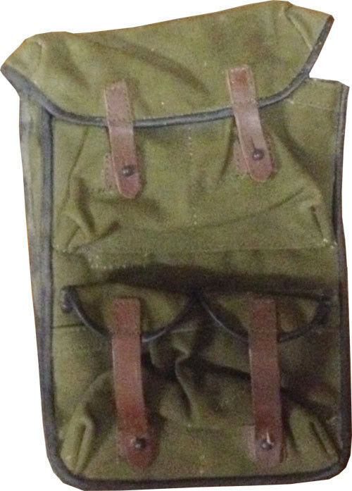 Military Surplus Green Canvas Go Bag Holds (4) 20 Rifle Mag Pouch