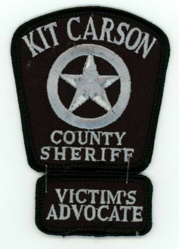 COLORADO CO KIT CARSON COUNTY SHERIFF NEW PATCH POLICE WITH VICTIMS ADVOCATE TAB