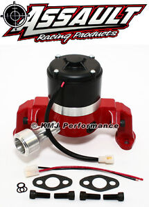 Small Block Chevy 350 Electric High Volume Water Pump Powdercoated Red
