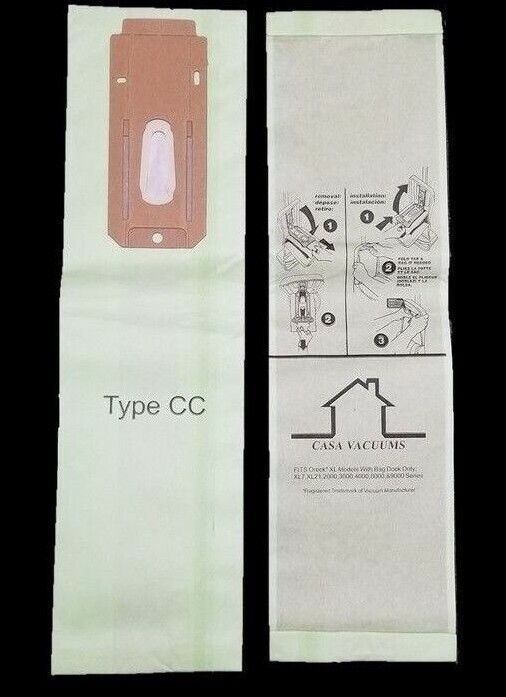 8 CC Allergen Vacuum Cleaner Bags To Fit all Oreck CC XL XL2