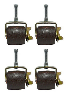 Bed Frame Casters/Wheels/Rollers with Locks/Brakes & Socket Sleeves - Set of 4