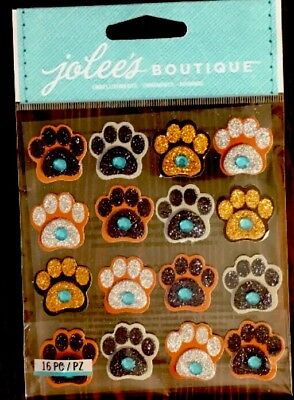 (Jolee's Gem Sparkle Paw Prints Repeats Scrapbook Sticker Embellishments)