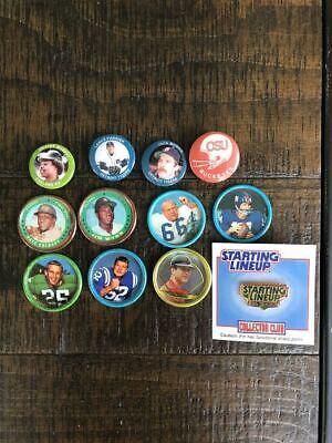 1962 Salada Tea & Junket Football, 1984 fun foods baseball, starting lineup pins (Lineup Pins)