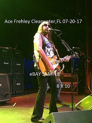 Kiss 2017 Ace Frehley 8 X 10 Color Photo Clearwater,FL