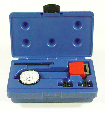 Central Tools 6410 Dial Indicator Test Set W Magnetic Base 0-1