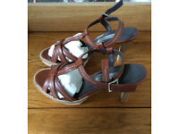 Jigsaw Size 8 Italian Leather Sandals NEW