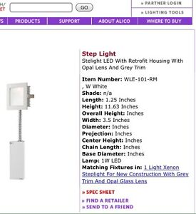 Alico LED steplight with housing