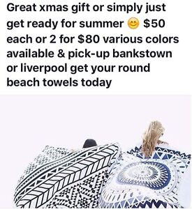 Round Beach Towels Mount Lewis Bankstown Area Preview