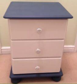 Pine bedside drawers
