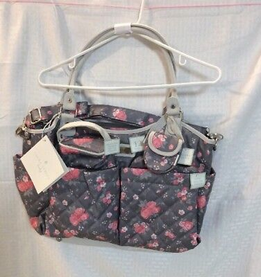 NEW With Tags Laura Ashley Baby Girls Diaper Bag W/accessories  **See Photos***