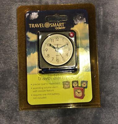 Travel Smart Mini Travel Alarm Clock Black Conair '08 Never Used In Original Pak
