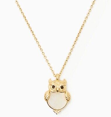 Kate Spade  In To The Woods Owl Pendant Necklace Brand New With Gift Box