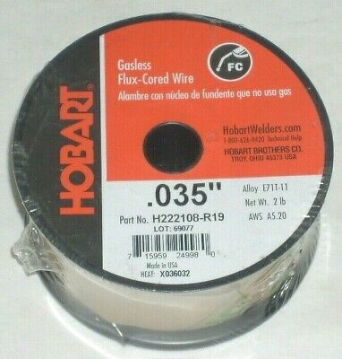 2 Hobart E71t-11 Gasless Flux Core Welding Wire .035 2 Lb Roll Usa Made 4 Total