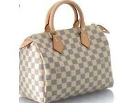 Louis Vuitton Cream Speedy Bag - New
