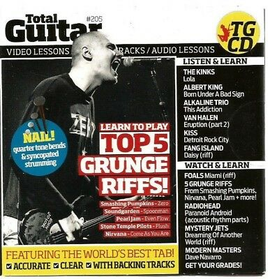 Total Guitar #205 CD/DVD Video/Audio Lessons..New/Sealed..2010