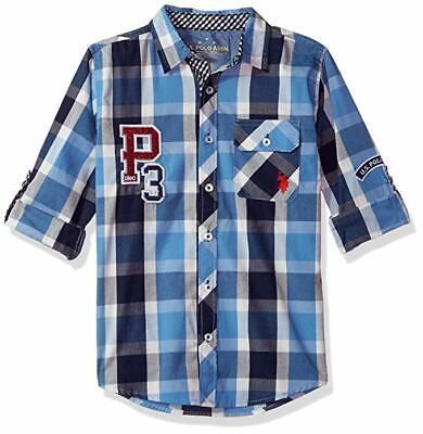 US Polo Assn. Boys' Big Long Sleeve Plaid Shirt Boys Long Sleeve Plaid Shirt