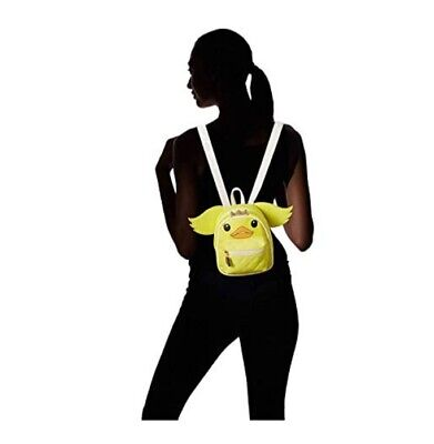 NWT Luv Betsey Johnson Ducky Backpack Yellow Duck with Hideable Wings RETIRED!