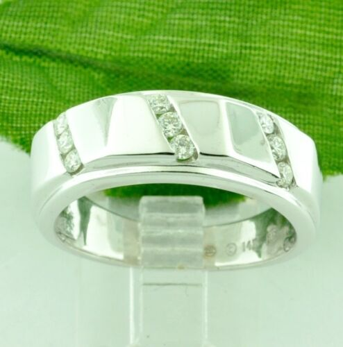 0.30 Ct 14k Solid White Gold Mens Natural Diamond Ring Channel Set Vs F Made Usa