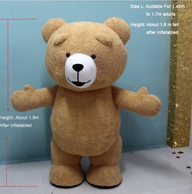 Cute Bear Costumes (New Cute Adult Teddy Bear Dress Advertising Inflatable Plush Bear Mascot)