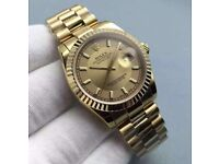 Rolex Oyster Perpetual Datejust in gold with president bracelet. All models available