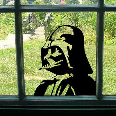 DARTH VADER COOL STAR WARS ROOM WINDOW CORNER DECAL STICKER