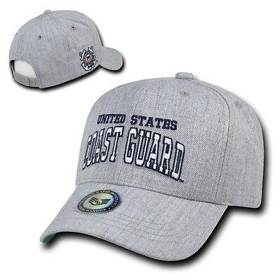 Coast Guard Baseball Hat - Gray United States US Coast Guard USCG Military Baseball Ball Cap Hat Caps Hats