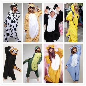NEW Qute Giraffe/Cow Kigurumi Animal Costume Cosplay Adult All in one ...