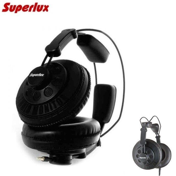Superlux HD668B Studio Headphones Open Back DJ Wired Over