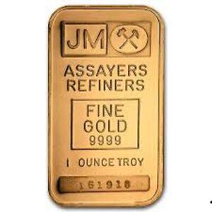 1 oz. Gold bars